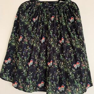 Essue Black Patterned Skirt Size XS